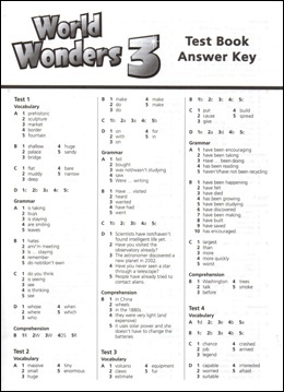 Фото - World Wonders 3 Test Book Answer Key